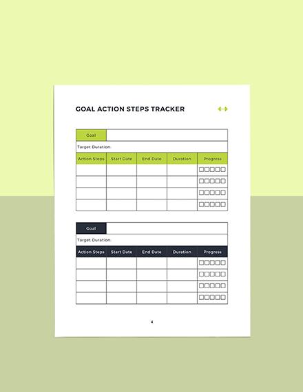 Sample Fitness Training Planner