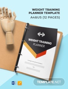 Weight Training Planner Template