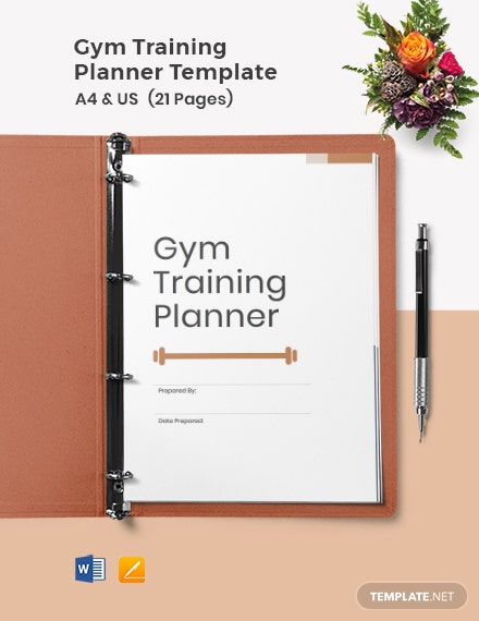 Gym Training Planner Template
