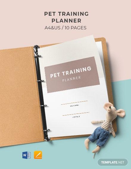 Pet Training Planner Template