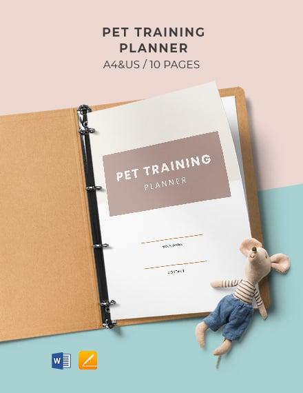Pet Training Planner Template