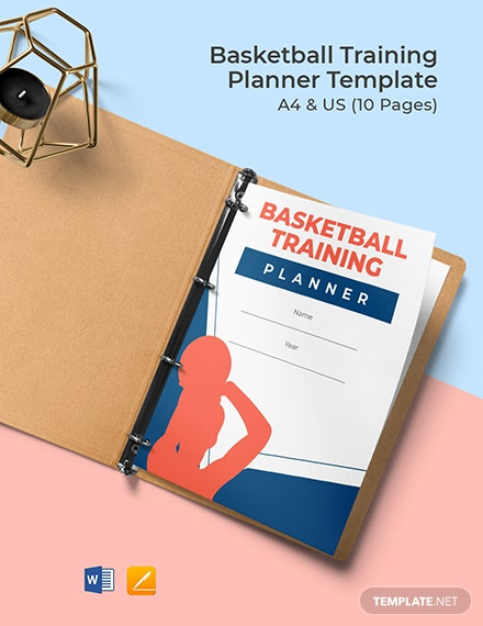 Basketball Training Planner Template