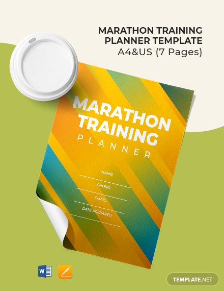 Marathon Training Planner Template