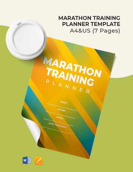 Marathon Training Planner Template