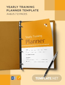 Yearly Training Planner Template