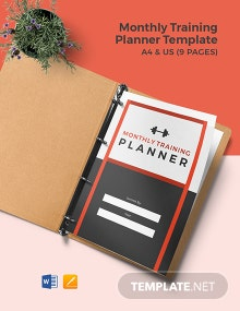Monthly Training Planner Template