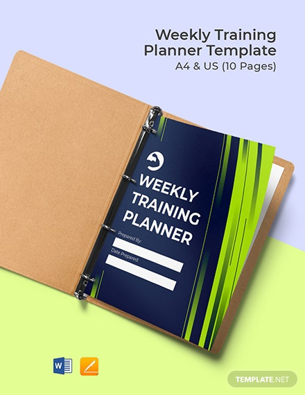 Free Sample Weekly Training Planner Template