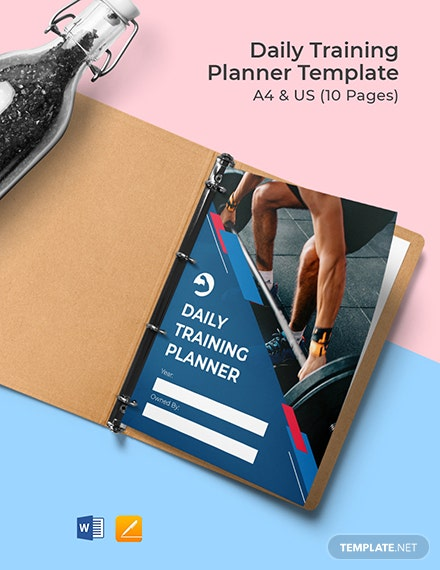 Daily Training Planner Template