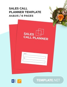 Sales Call Planner Template