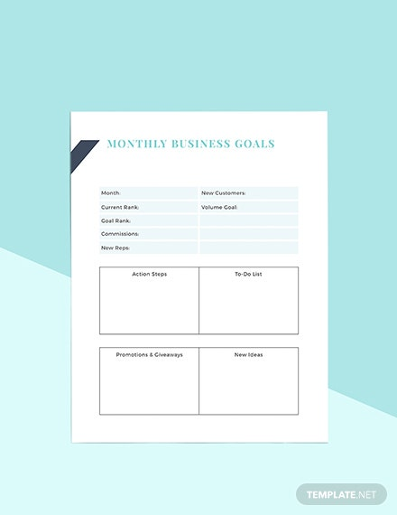 Direct Sales Business Planner Format
