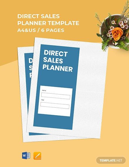 Direct Sales Planner Template