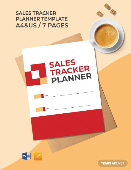 Sales Tracker Planner Template