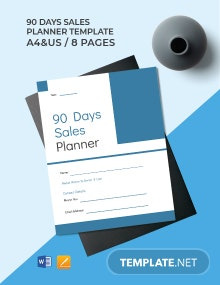 90 Day Sales Planner Template