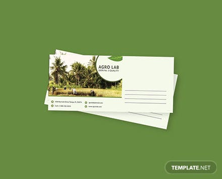 Free Agriculture Envelope Template