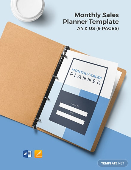 Monthly sales Planner