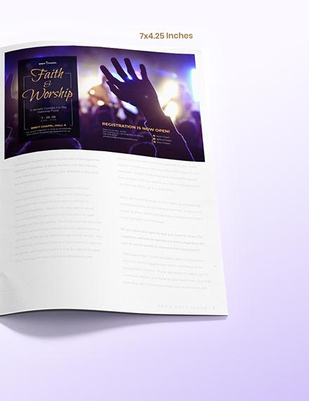 Church Magazine Ads Format