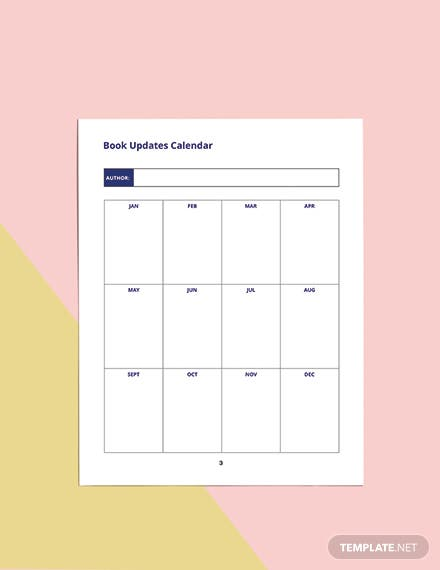 Book Journal Planner Template Example