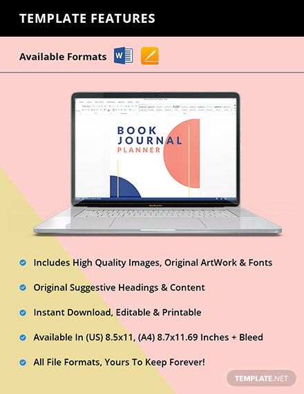 Book Journal Planner Template Instruction