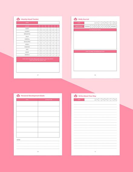 Wellness Journal Planner Editable