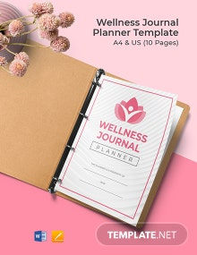 Wellness Journal Planner Template
