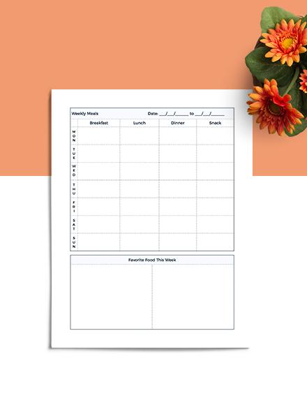 Food Journal Planner Download