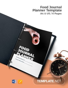Food Journal Planner Template
