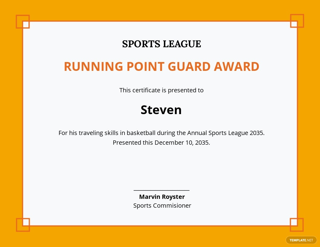 Funny Sports Certificate Template