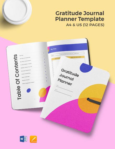 Gratitude Journal Planner Template