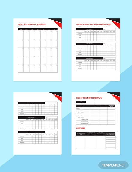 Workout Journal Planner Editable