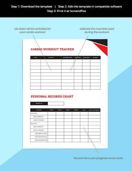 Workout Journal Planner Format