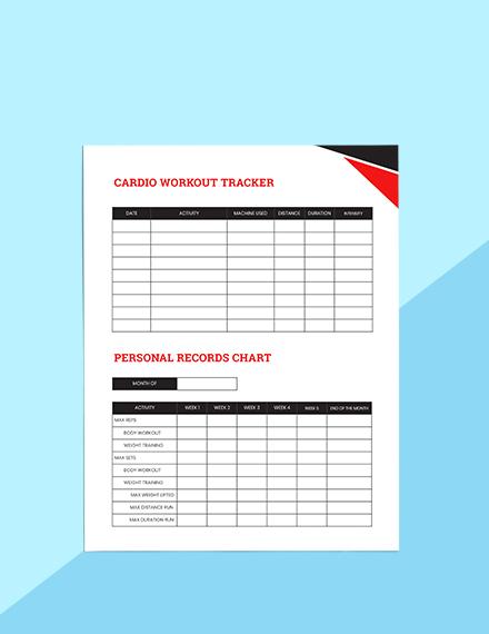 Workout Journal Planner Schedule