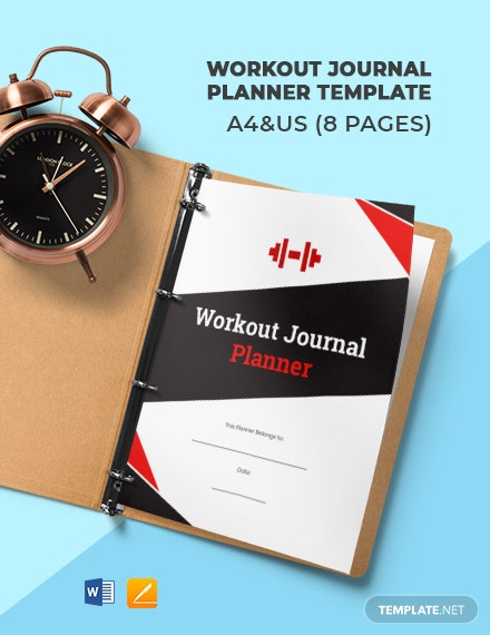 Workout Journal Planner Template