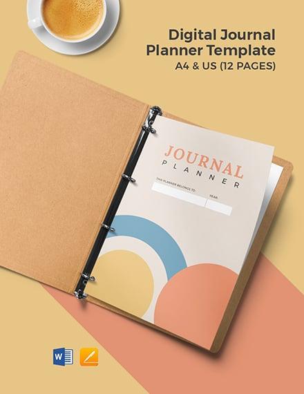Digital Journal Planner Template