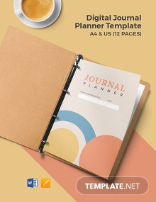 Digital Journal Planner Template