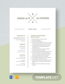 General Nurse Resume Template