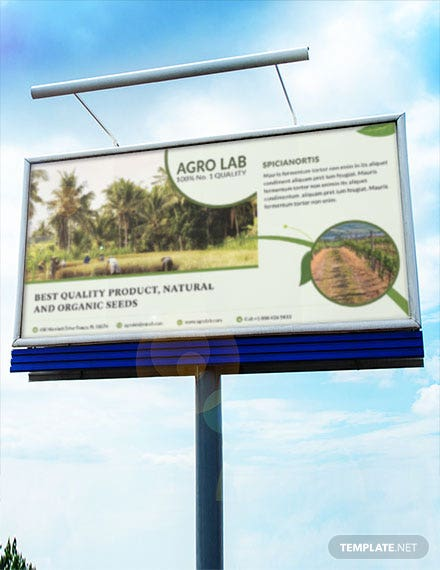 free agriculture billboard banner template download 41 banners in