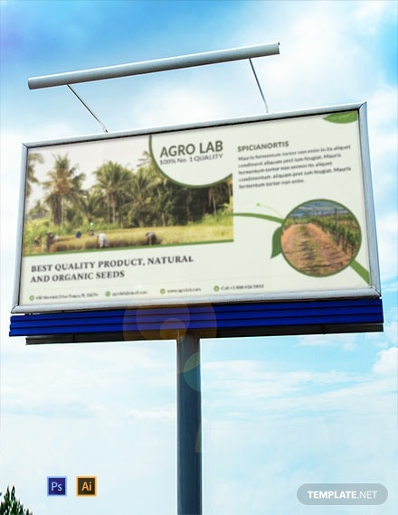 free agriculture billboard banner template 440x570 1