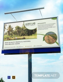 Free Agriculture Billboard Banner Template
