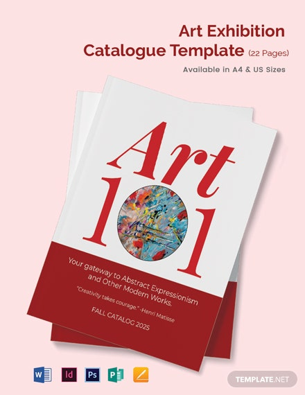 Art Exhibition Catalogue Template