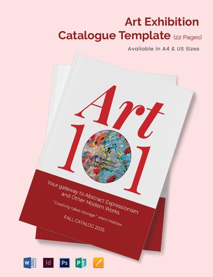 Art Exhibition Catalogue Template
