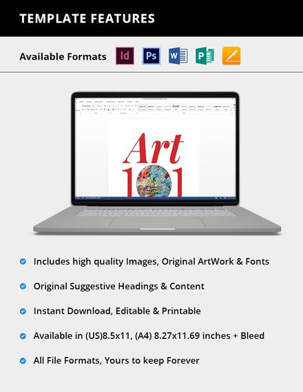 Simple Art Exhibition Catalogue