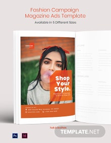 Free Fashion Campaign Magazine Ads Template