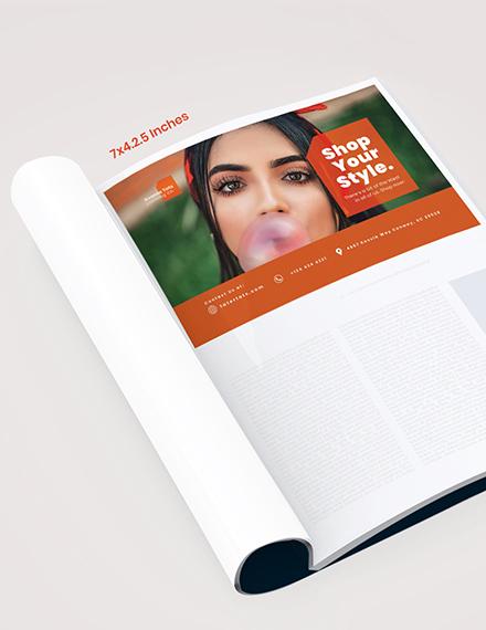 Fashion Campaign Magazine Ads Template