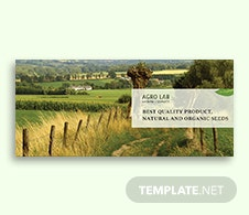Agriculture Facebook Cover Page Template