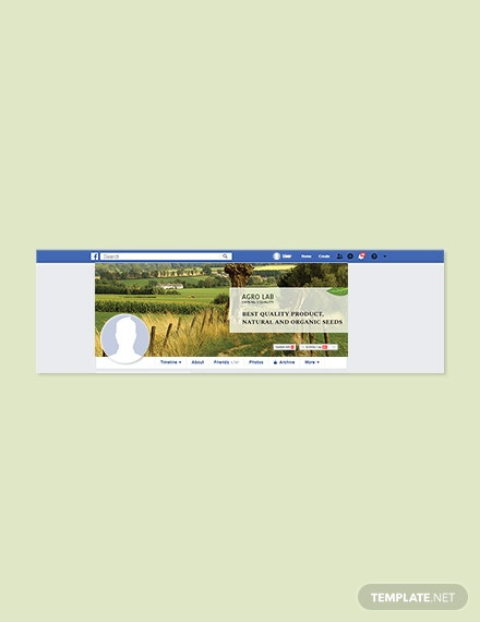 Free Agriculture Facebook Cover Page Template