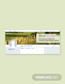 Agriculture Twitter Cover Template