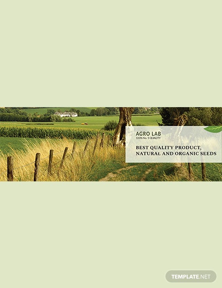 Free Agriculture Twitter Cover Template