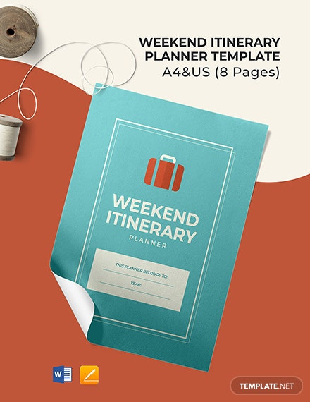 Weekend Itinerary Planner Template
