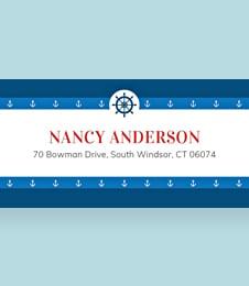 Free Nautical Address Label Template