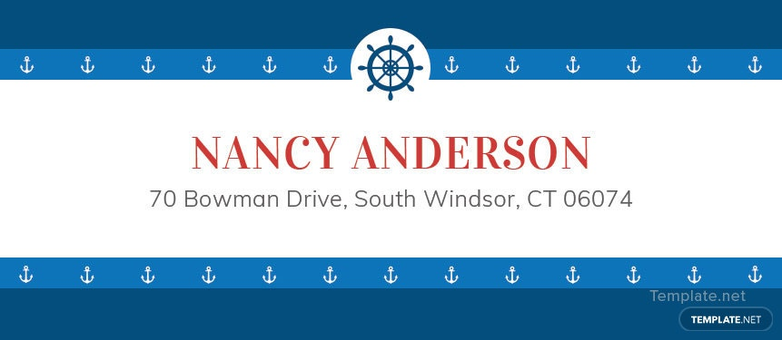 Nautical Address Label Template. Free Download